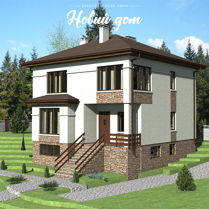 Проект трехэтажного дома на участке с уклоном