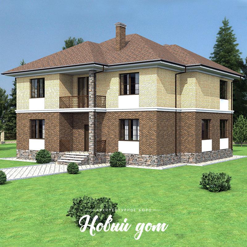 Большой двухэтажный дом на забивных сваях