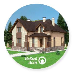 Проект большого кирпичного дома