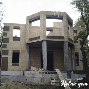 Фото в период строительства дома под Сызранью