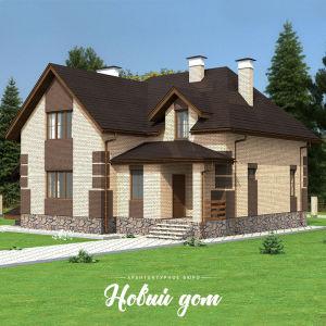 Кирпичный дом - солома с шоколадом