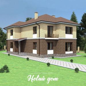 Красивый узкий дом