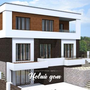 Большой трехэтажный дом в стиле хай-тек