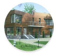 Стиль минимализм,  конструктивизм и hi-tech частных домов