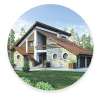 Стиль минимализм,  конструктивизм и hi-tech загородного дома