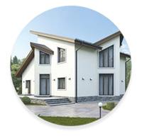 Стиль модерн загородного дома