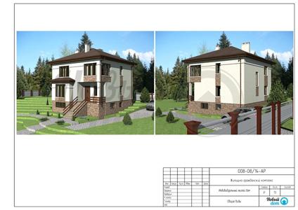 Внешний вид и визуализация загородного дома