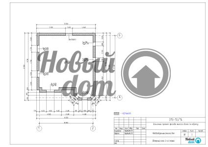 Обмерный план второго этажа.
