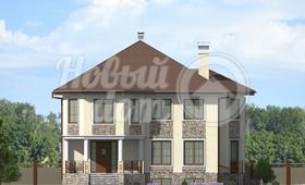Первый фасад дома с цокольным этажом