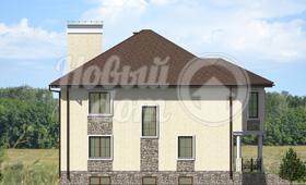Третий фасад дома с цокольным этажом