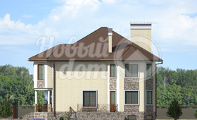Четвертый фасад дома с цокольным этажом