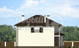 Второй фасад двухэтажного частного дома
