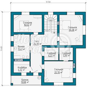 План ворого этажа коттеджа