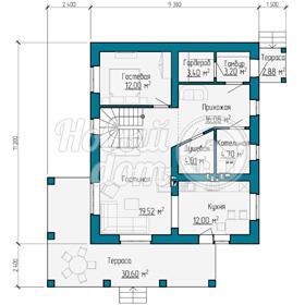 План первого этажа частного дома