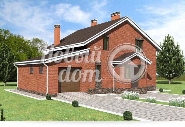 Готовый проект двухэтажного загородного дома с гаражом