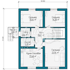 План первого этажа частного дома из газобетоных блоков