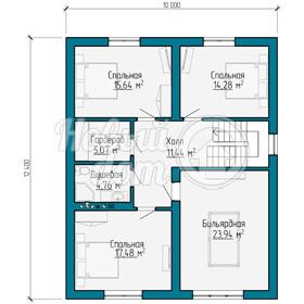 План мансардного этажа коттеджа из газобетоных блоков