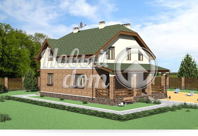 Готовый проект дома мансардной крышей
