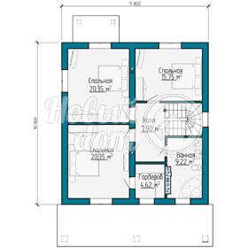 План мансардного этажа загородного коттеджа