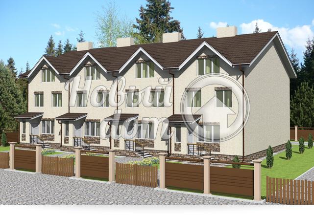 Готовый проект блокированных домов