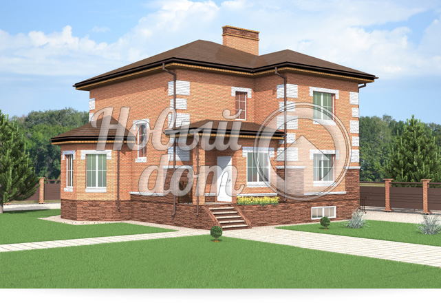 Готовый проект дома с полноценным вторым этажом