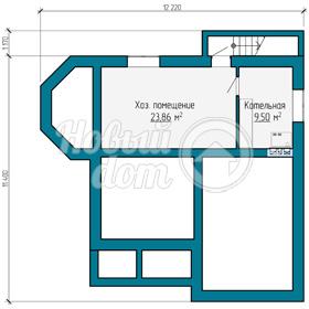 План первого этажа двухэтажного дома в Самаре