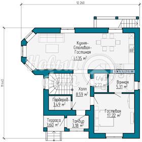 План второго этажа двухэтажного дома в Самаре