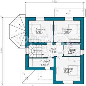 План второго этажа загородного дома