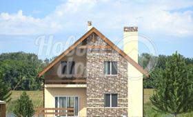 Первый фасад двухэтажного дома в Самаре