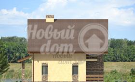 Четвертый фасад частного двухэтажного дома в Самаре