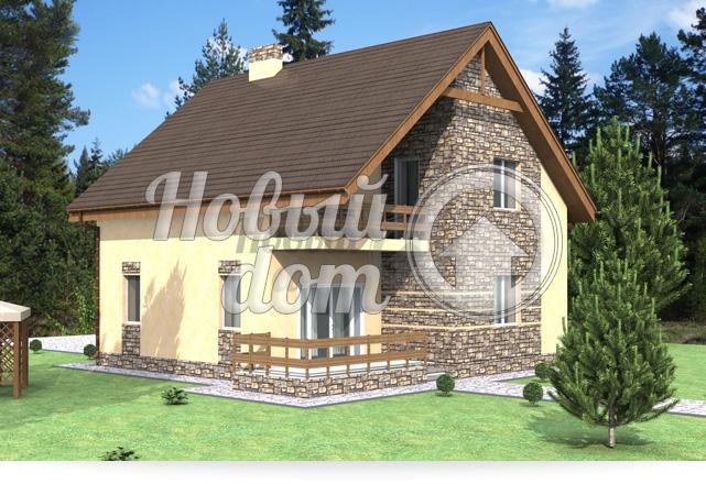 Готовый проект двухэтажного дома в Самаре