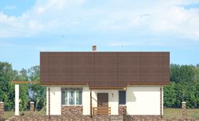Первый фасад небольшого дачного дома