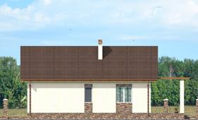 Второй фасад дачного дома из керамических блоков