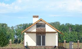 Третий фасад небольшого коттеджа