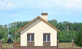 Четвертый фасад компактного загородного дома