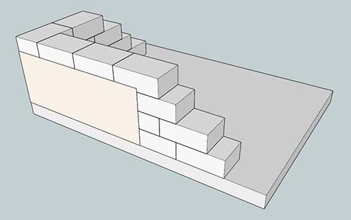 Газобетонный блок (400 мм) + отделка