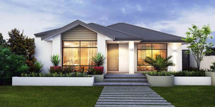 Пример одноэтажного дома