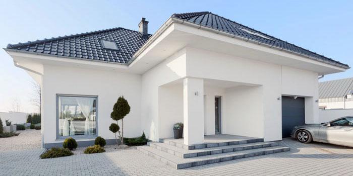 Светлый одноэтажный дом