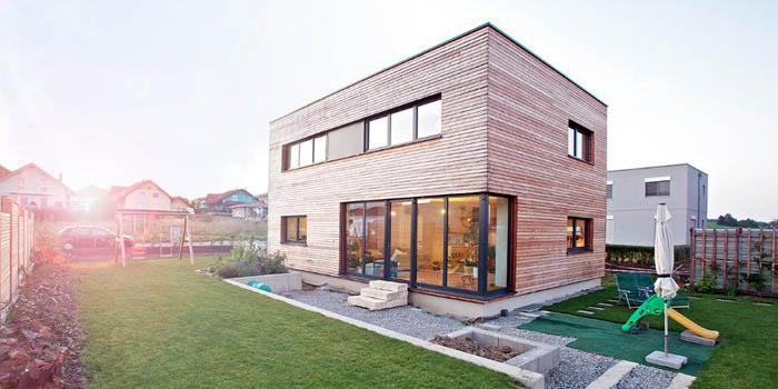 Пример дома в форме параллелепипеда
