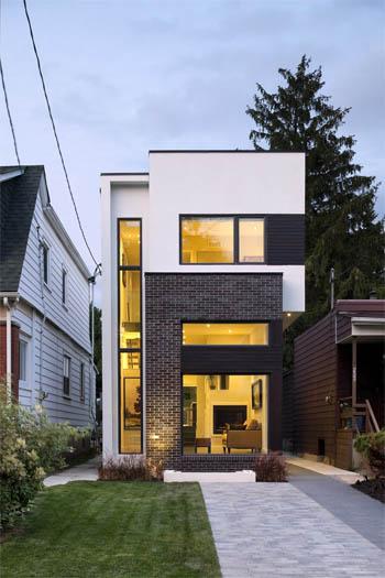 Пример проекта узкого дома
