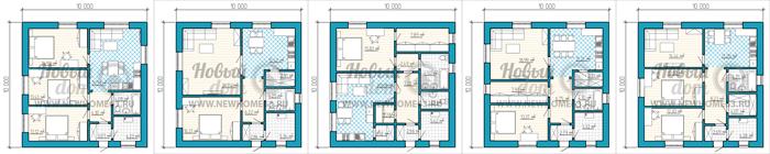 Планировки домов и коттеджей