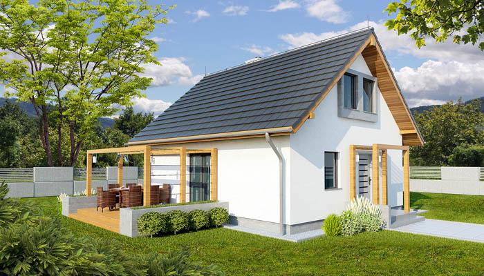 Пример дачного двухэтажного дома