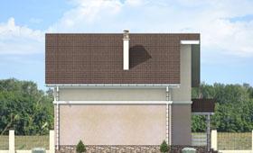 Четвертый фасад уютного двухэтажного дома