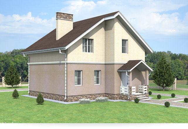 проекты загородных домов 9 на 9 - проекты домов под замок