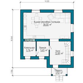 План мансардного этажа небольшого дома в Самаре