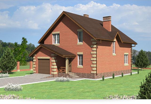 Небольшой двухэтажный дом с гаражом