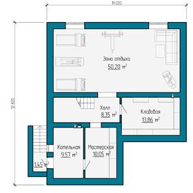 План цокольного этажа частного дома в Самаре