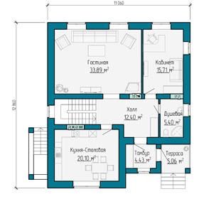 План первого этажа дома в Самаре