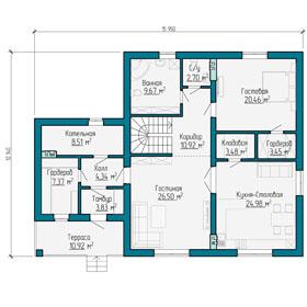 План первого этажа частного дома в Самаре