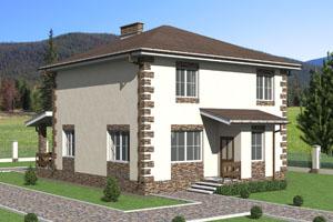 Проект двухэтажного дома из керамзитобетонных блоков